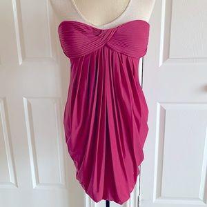 BCBG MaxAzria Strapless Open Back Mini Dress